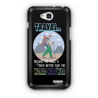 YuBingo The World is Better than World Wide Web Designer Mobile Case Back Cover for LG L90