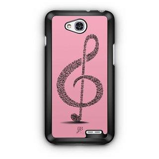 YuBingo Pink Musical Note Designer Mobile Case Back Cover for LG L90