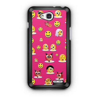 YuBingo Smileys in Various Avatars Designer Mobile Case Back Cover for LG L90
