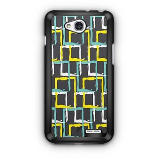 YuBingo Colourful rectangular patterns Designer Mobile Case Back Cover for LG L90