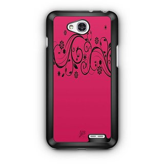 YuBingo Pink Flowery Pattern Designer Mobile Case Back Cover for LG L90