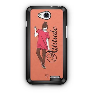 YuBingo Girl with an Smart Attitude Designer Mobile Case Back Cover for LG L90