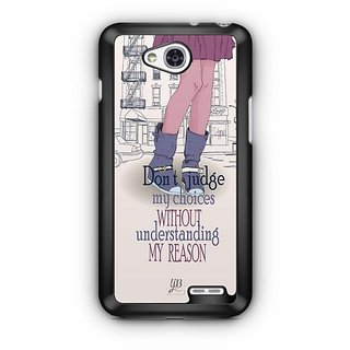 YuBingo Don't judge my choices Designer Mobile Case Back Cover for LG L90