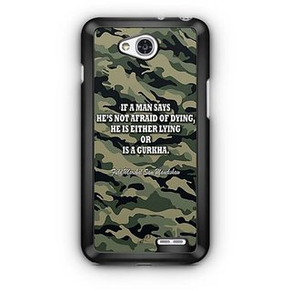 YuBingo Indian Army Quote Designer Mobile Case Back Cover for LG L90
