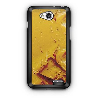 YuBingo Yellow Oil Paint Designer Mobile Case Back Cover for LG L90