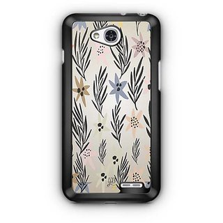 YuBingo Flowers and leaves pattern Designer Mobile Case Back Cover for LG L90