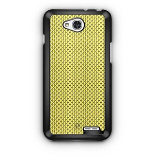 YuBingo Yellow hexagon pattern Designer Mobile Case Back Cover for LG L90