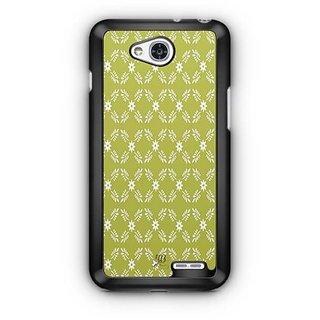 YuBingo White leaf and flowers Designer Mobile Case Back Cover for LG L90