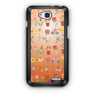 YuBingo Flowers and birds pattern Designer Mobile Case Back Cover for LG L90