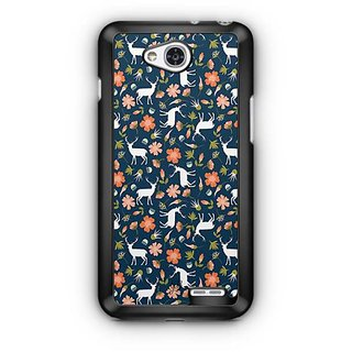 YuBingo Deer and flowers pattern Designer Mobile Case Back Cover for LG L90