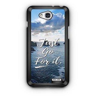 YuBingo Just Go For It Designer Mobile Case Back Cover for LG L90