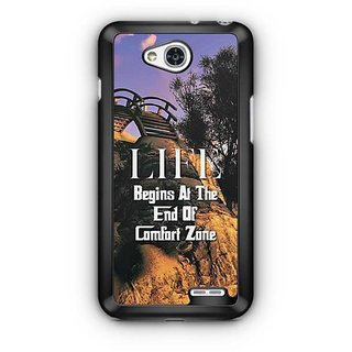 YuBingo Life Begins at the end of Comfort Zone Designer Mobile Case Back Cover for LG L90