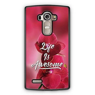 YuBingo Life is Awesome Designer Mobile Case Back Cover for LG G4