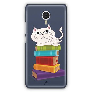 YuBingo Cat on Books Designer Mobile Case Back Cover for Meizu M3 Note