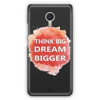 YuBingo Think Big Dream Bigger Designer Mobile Case Back Cover for Meizu M3 Note