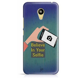 YuBingo Believe in your Selfie Designer Mobile Case Back Cover for Meizu M3