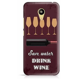 YuBingo Save Water, Drink Wine Designer Mobile Case Back Cover for Meizu M3