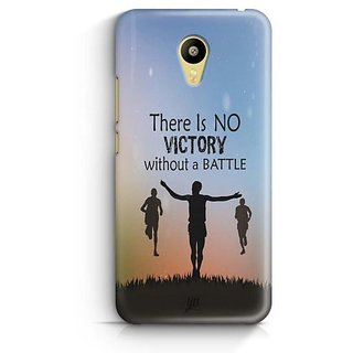 YuBingo No Victory without a Battle Designer Mobile Case Back Cover for Meizu M3