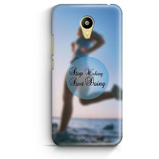YuBingo Stop Wishing, Start Doing Designer Mobile Case Back Cover for Meizu M3