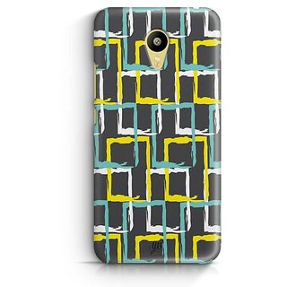 YuBingo Colourful rectangular patterns Designer Mobile Case Back Cover for Meizu M3