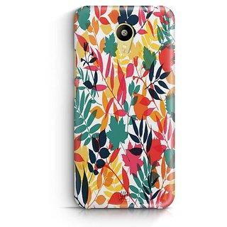 YuBingo Colourful Leaves Designer Mobile Case Back Cover for Meizu M3
