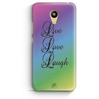 YuBingo Live. Love. Laugh. Designer Mobile Case Back Cover for Meizu M3