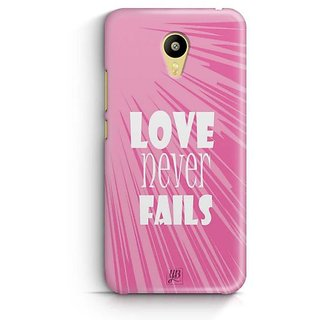 YuBingo Love Never Fails Designer Mobile Case Back Cover for Meizu M3