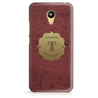 YuBingo Monogram with Beautifully Written Wooden and Metal (Plastic) Finish letter T Designer Mobile Case Back Cover for Meizu M3