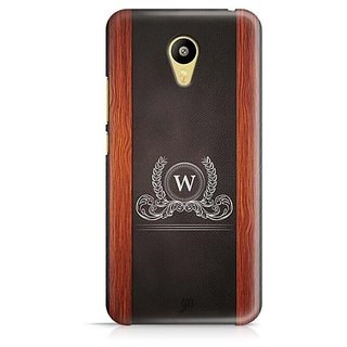 YuBingo Monogram with Beautifully Written Wooden and Leather (Plastic) Finish letter W Designer Mobile Case Back Cover for Meizu M3