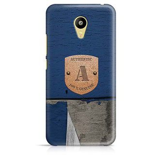 YuBingo Monogram with Beautifully Written Wooden and Metal (Plastic) Finish letter A Designer Mobile Case Back Cover for Meizu M3