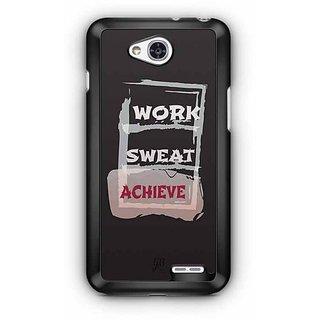 YuBingo Work, Sweat, Achieve Designer Mobile Case Back Cover for LG L90