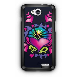 YuBingo Hearts Designer Mobile Case Back Cover for LG L90