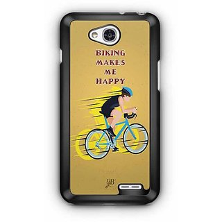 YuBingo Cycling Makes me Happy Designer Mobile Case Back Cover for LG L90
