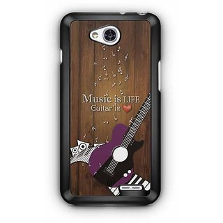 YuBingo Music is Life, Guitar is Love Designer Mobile Case Back Cover for LG L90
