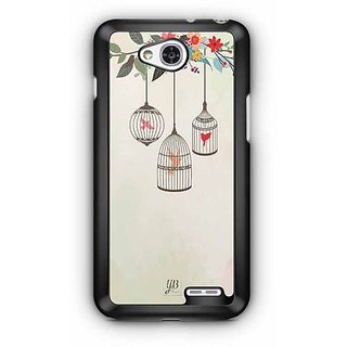 YuBingo Birds in Cage Designer Mobile Case Back Cover for LG L90
