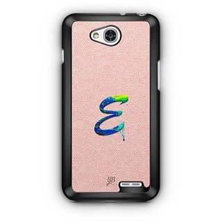 YuBingo Monogram with Beautifully Written Paint Finish letter E Designer Mobile Case Back Cover for LG L90