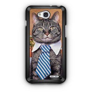 YuBingo Cat wearing a tie Designer Mobile Case Back Cover for LG L90