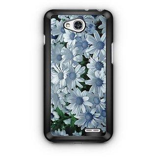 YuBingo White flowers Designer Mobile Case Back Cover for LG L90