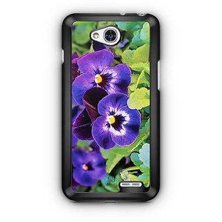 YuBingo Purple flowers Designer Mobile Case Back Cover for LG L90