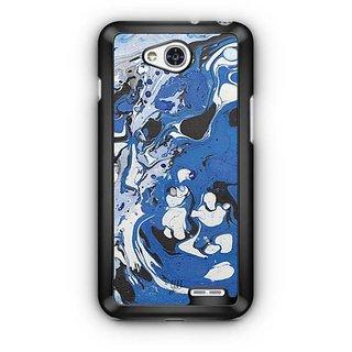YuBingo Blue Black Marble Finish (Plastic) Designer Mobile Case Back Cover for LG L90