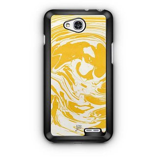 YuBingo Yellow White Marble Finish (Plastic) Designer Mobile Case Back Cover for LG L90