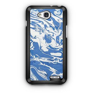 YuBingo Blue White Marble Finish (Plastic) Designer Mobile Case Back Cover for LG L90