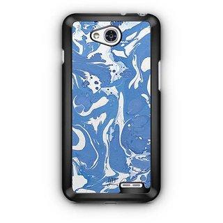 YuBingo Blue White Marble Finish (Plastic) Designer Mobile Case Back Cover for LG L90
