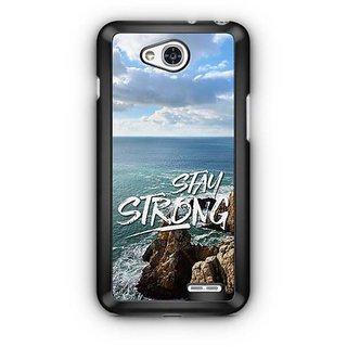 YuBingo Stay Strong Designer Mobile Case Back Cover for LG L90