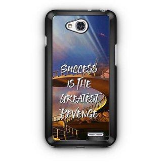 YuBingo Success is the Greatest Revenge Designer Mobile Case Back Cover for LG L90