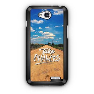 YuBingo Take Chances Designer Mobile Case Back Cover for LG L90