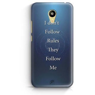 YuBingo Rules Follow Me Designer Mobile Case Back Cover for Meizu M3