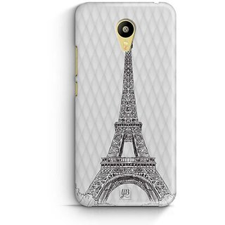 YuBingo Eiffel Tower Designer Mobile Case Back Cover for Meizu M3