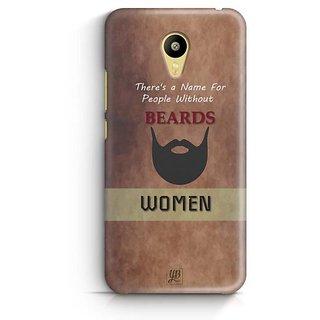 YuBingo Beard Designer Mobile Case Back Cover for Meizu M3
