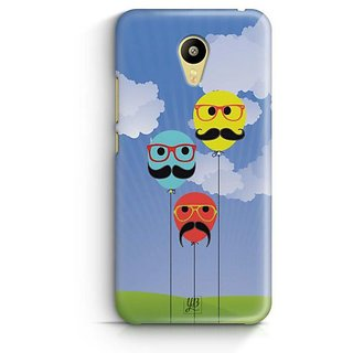 YuBingo Balloons with Moustaches Designer Mobile Case Back Cover for Meizu M3